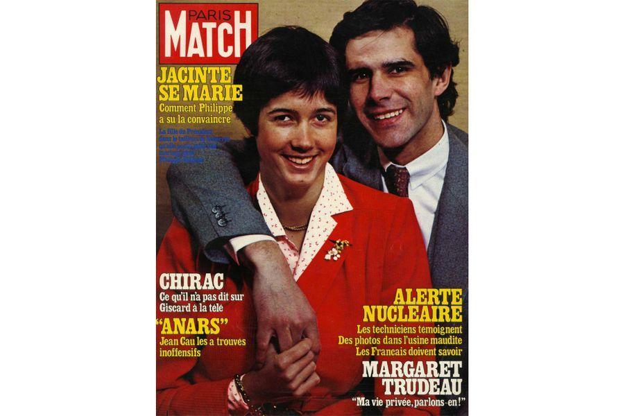 13 avril 1979, Jacinte Giscard d'Estaing est en Une de Paris Match avec son mari Philippe.