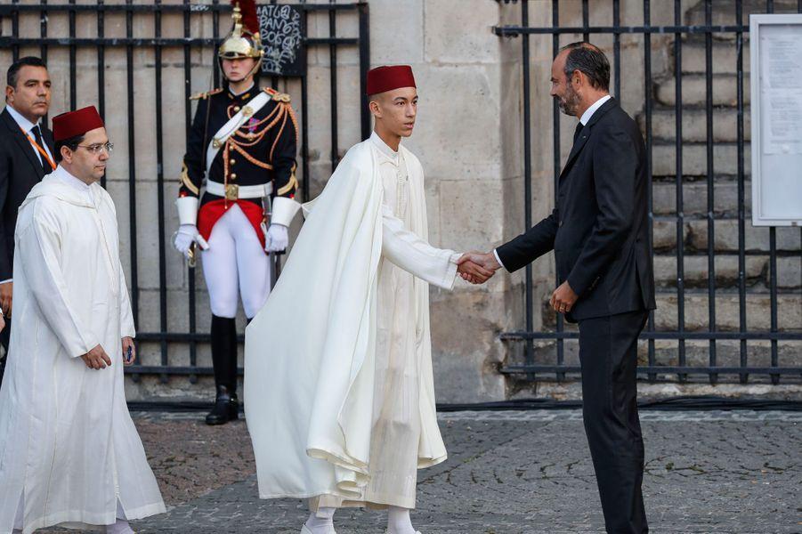 Le roi du Maroc, Mohammed VI, s'est fait représenter par son fils, le prince héritier Moulay El Hassan
