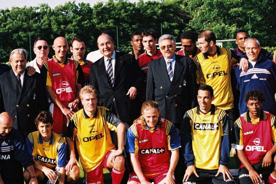 Jacques Chirac à Clairefontaine en 1998.
