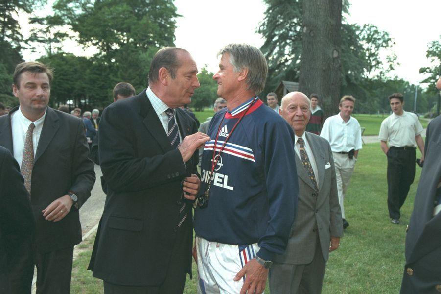 Jacques Chirac avec Aimé Jacquet
