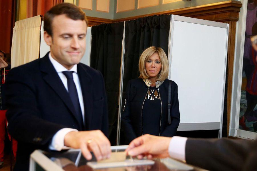 Le vote d'Emmanuel Macron pour le second tour de la présidentielle.