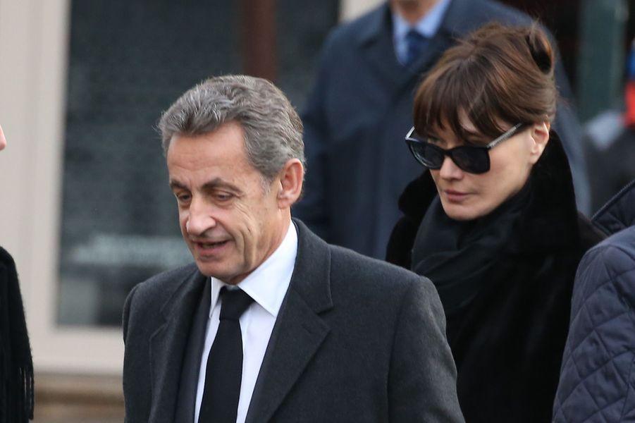 Nicolas Sarkozy et son épouse Carla.