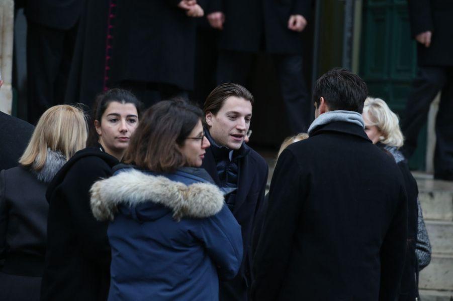 Jean Sarkozy aux obsèques de sa grand-mère Andrée.