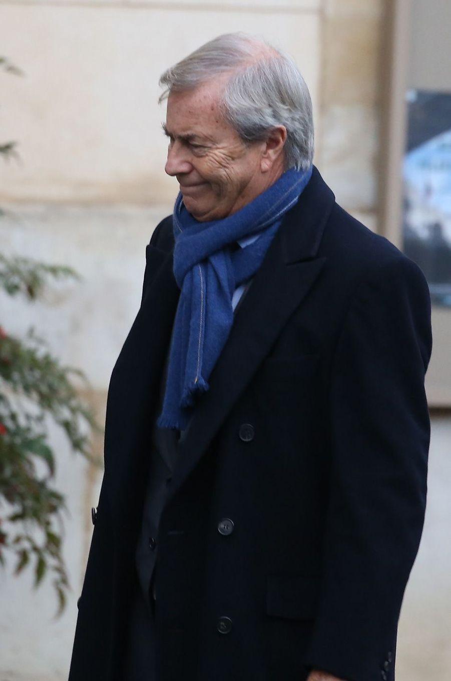 Vincent Bolloré aux obsèques d'Andrée Sarkozy.