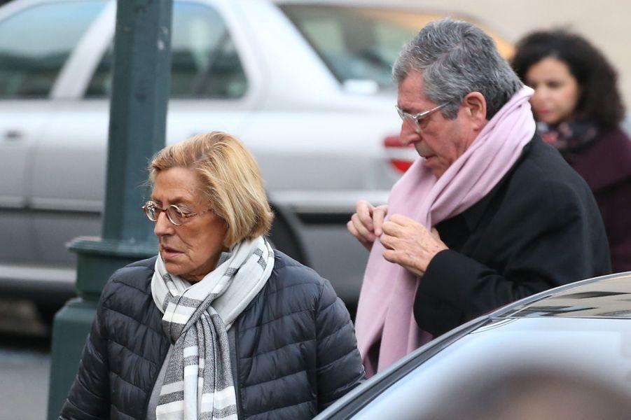 Patrick et Isabelle Balkanyaux obsèques d'Andrée Sarkozy.