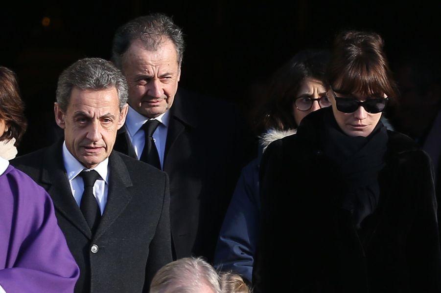 Nicols Sarkozy, son épouse Carla et son frère Guillaume.