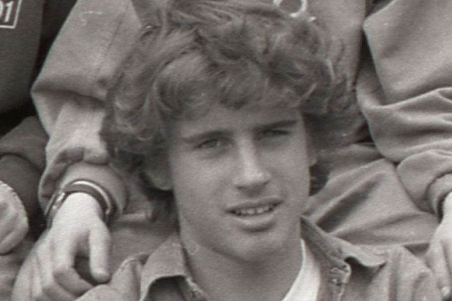 Emmanuel Macron adolescent.