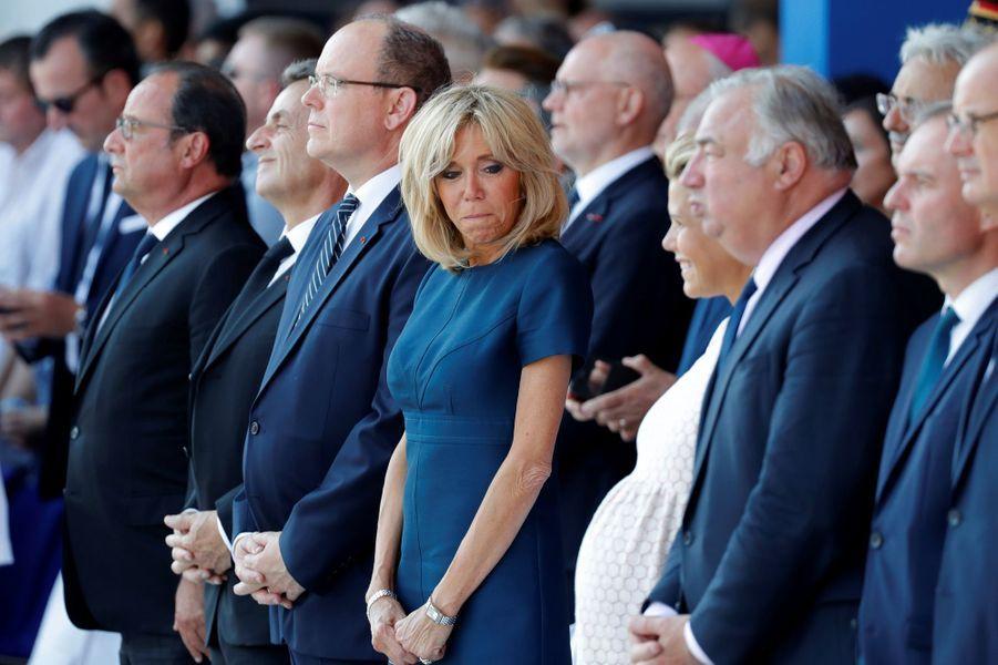 Brigitte Macron aux côtés du prince Albert et de Laura Tenoudji, l'épouse de Christian Estrosi.