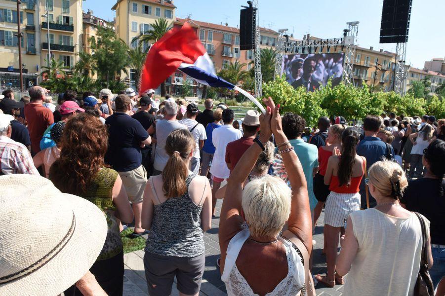 Nice rend hommage aux victimes de l'attentat du 14 juillet 2016.