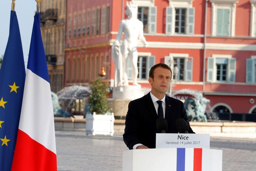 Le discours d'Emmanuel Macron.