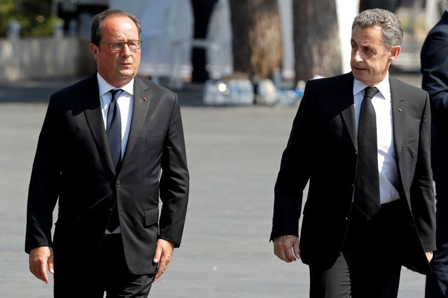 François Hollande et Nicolas Sarkozy assistent à l'hommage aux victimes de l'attentat de Nice.
