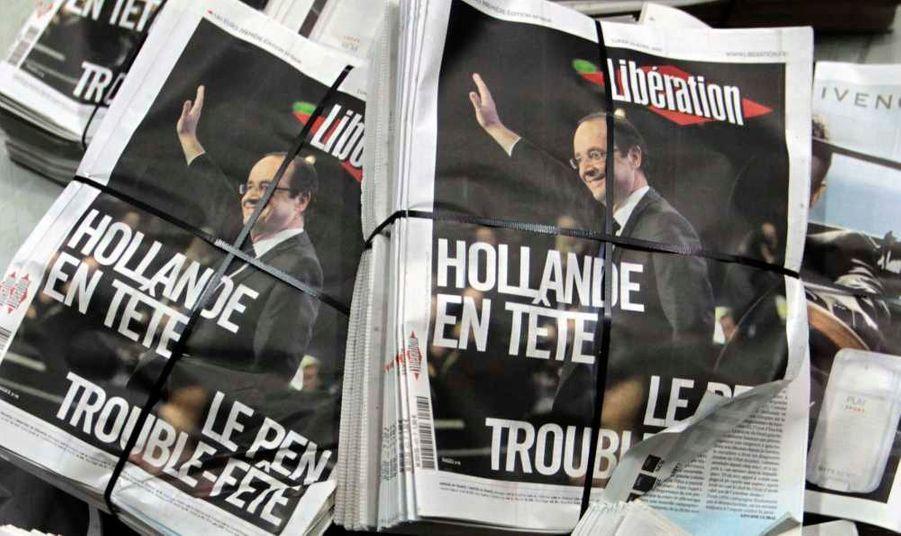 1er tour de l'élection présidentielle. François Hollande obtient 28.63% des voix, et Nicolas Sarkozy 27.18%. Marine Le Pen, elle récolte 17,90 % des suffrages.