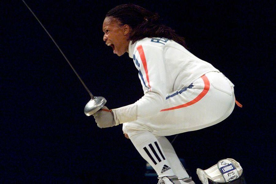 Laura Flessel aux Jeux de Sydney en 2000.