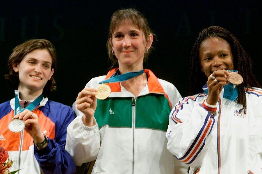 Médaille de bronze aux Jeux de Sydney pour Laura Flessel.