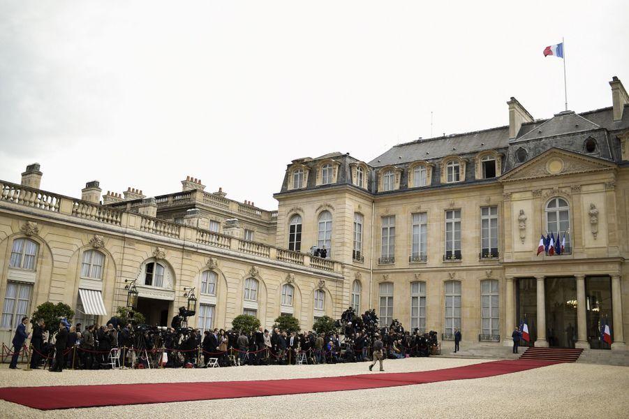 Le palais de l'Elysée avant la passation de pouvoir
