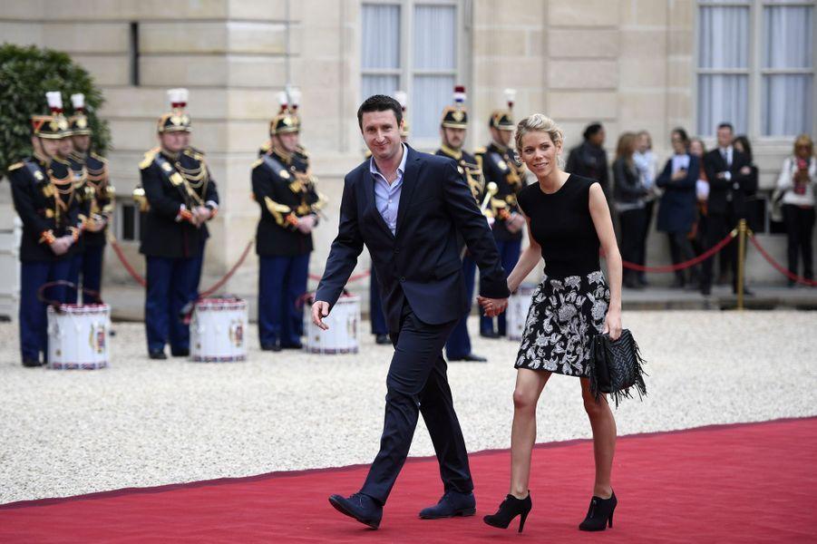 Tiphaine Auzière, la fille de Brigitte Macron et son époux.