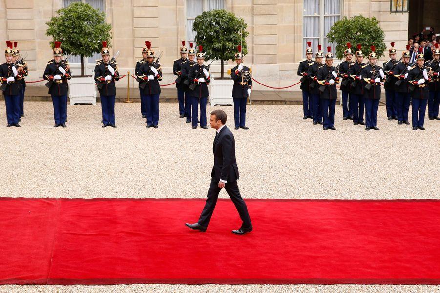 Emmanuel Macron a foulé le tapis rouge