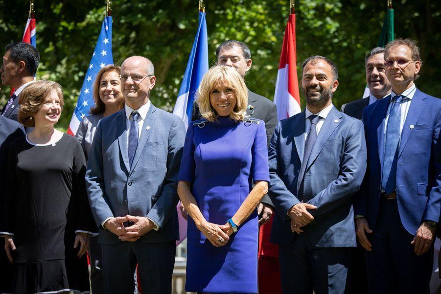 Brigitte Macron et Jean-Michel Blanquer,à la réunion du G7 Educationpour évoquer la lutte contre le harcèlement scolaire.