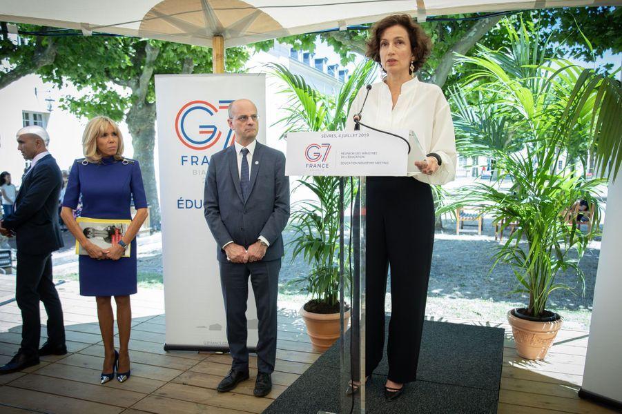 Audrey Azoulay, directrice générale de l'UNESCO,à la réunion du G7 Educationjeudi.