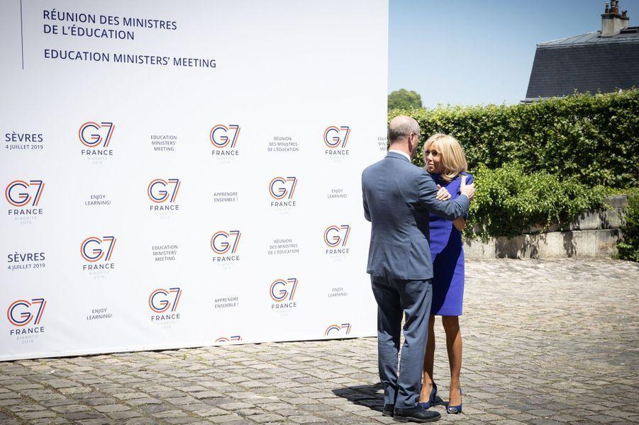 Brigitte Macron et Jean-Michel Blanquerà la réunion du G7 Educationjeudi.