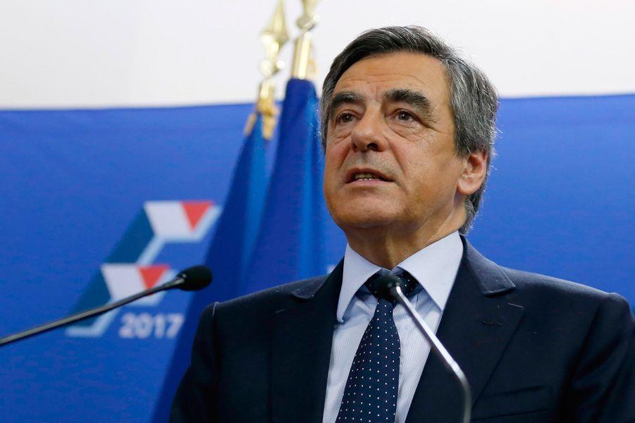 François Fillon s'adresse à ses supporters.