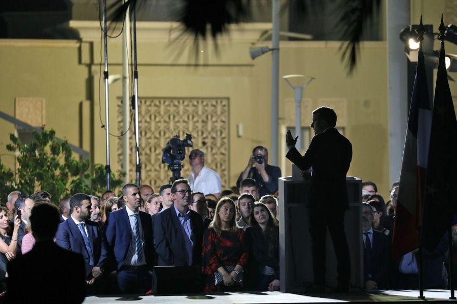 Rencontre avec la communauté française auLycée Français International Georges Pompidou, àDubaï.