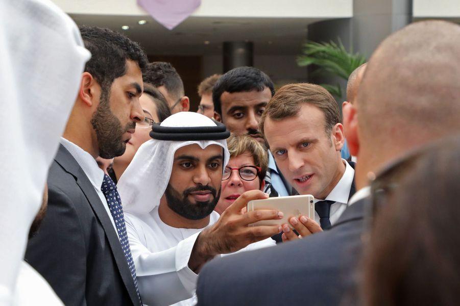 Emmanuel Macron à laSorbonne d'Abou Dhabi.