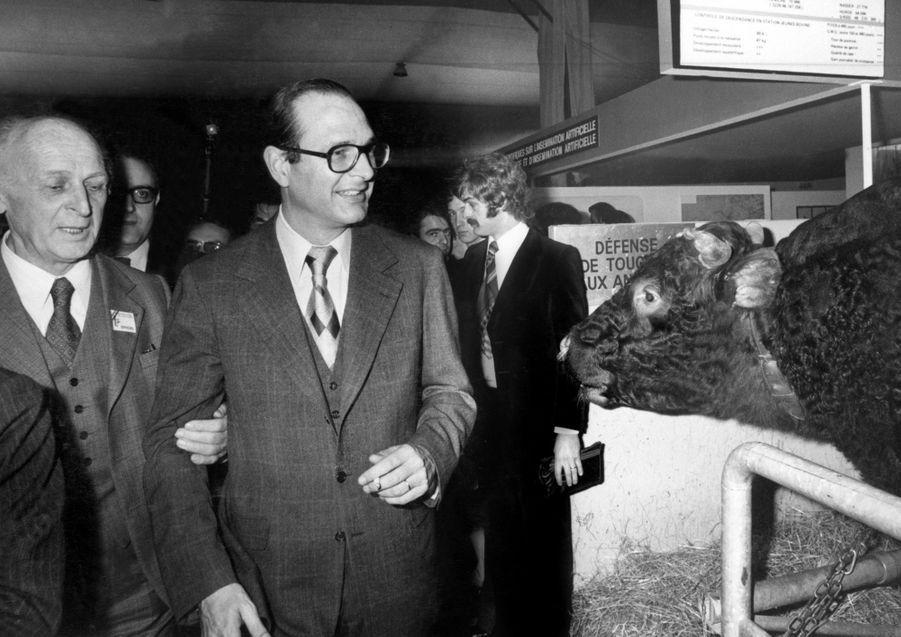 Jacques Chirac, Salon de l'Agriculture en 1976