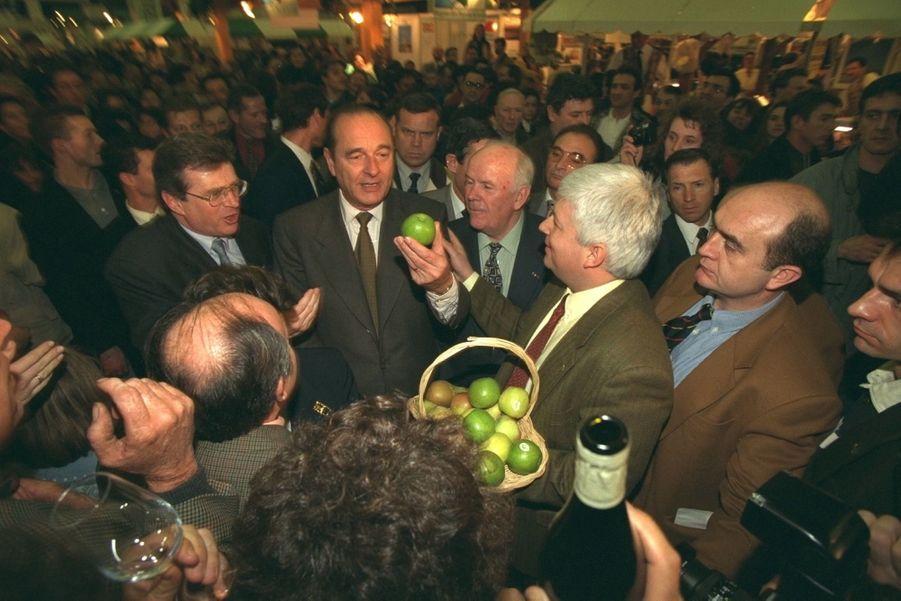 Jacques Chirac, Salon de l'Agriculture en 1996
