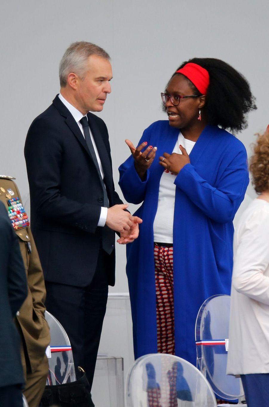 François de Rugy avec la porte-parole du gouvernementSibethNdiaye.
