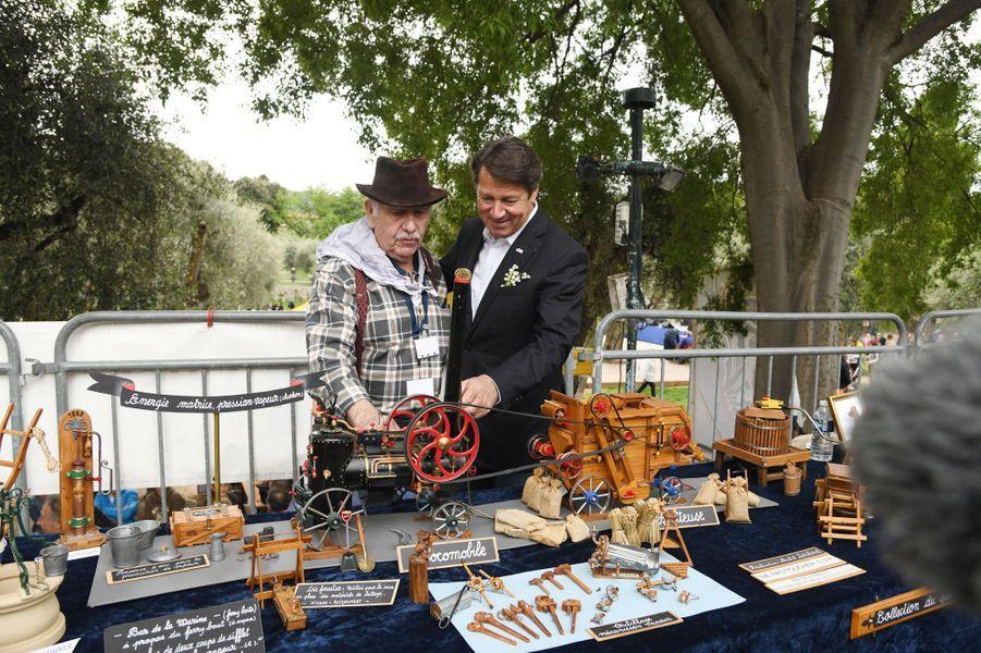 Christian Estrosi aparticipé en famille mardi à la Fête des Mai, organisée dans les jardins de Cimiez à Nice.