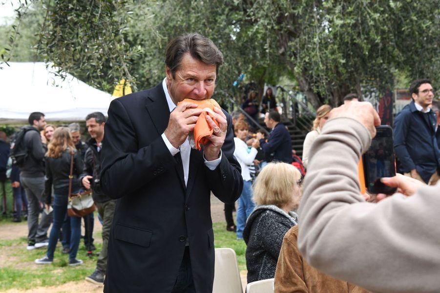 Christian Estrosi à la Fête des Mai, organisée dans les jardins de Cimiez à Nice.