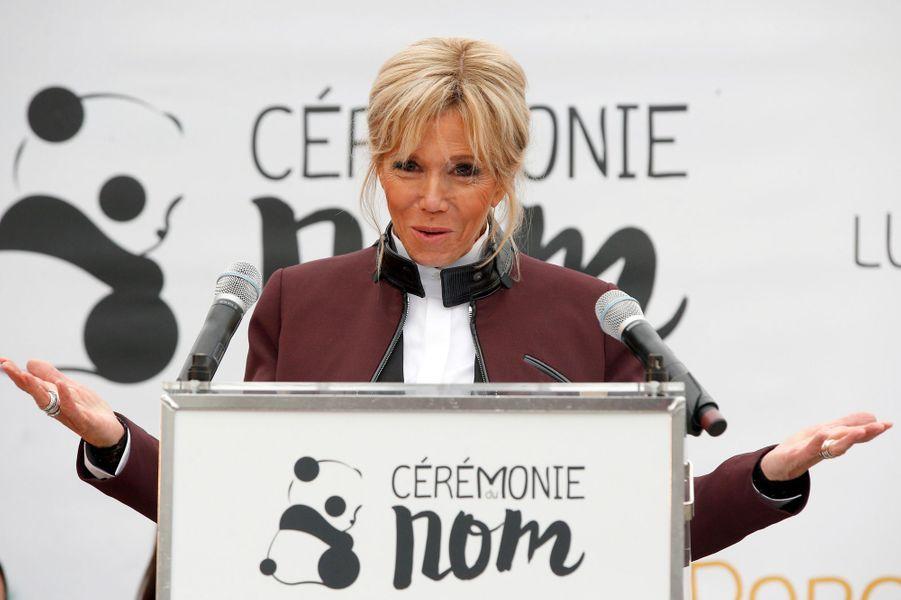 Brigitte Macron a prononcé son premier discours officiel.