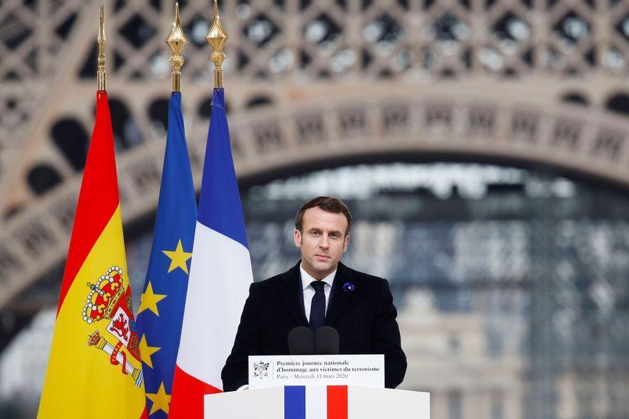 Emmanuel Macron au Trocadéro