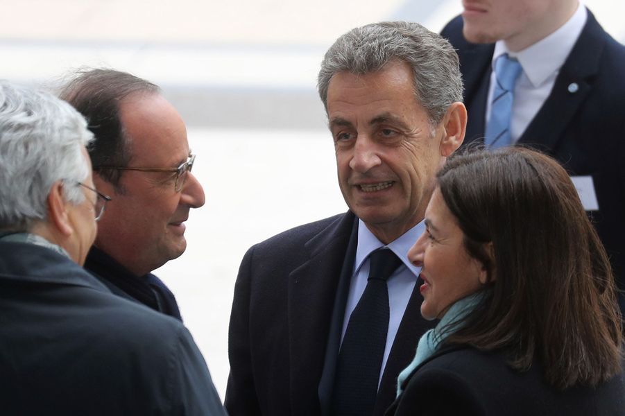 François Hollande, Nicolas Sarkozy et Anne Hidalgo