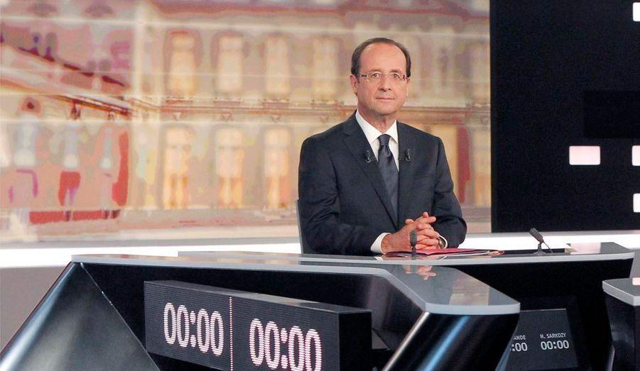 A gauche, François Hollande