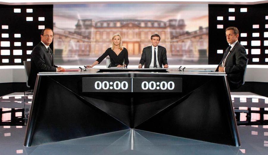 Laurence Ferrari et David Pujadas ont présidé le débat, afin de faire respecter les temps de parole.