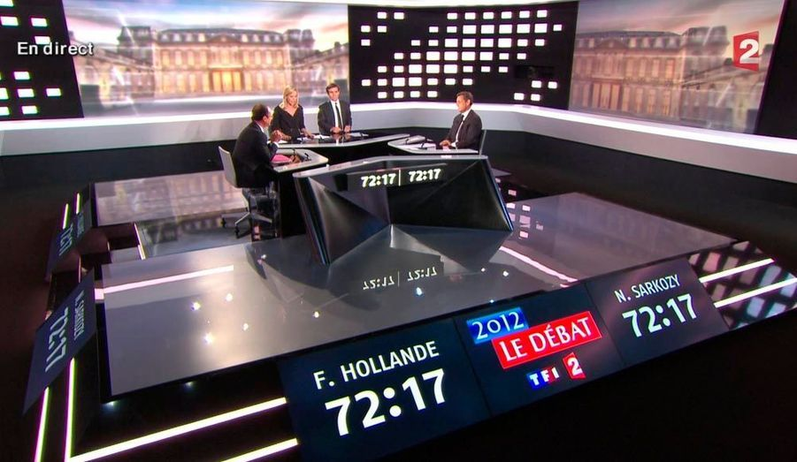 Pendant près de 3 heures, François Hollande et Nicolas Sarkozy ont échangé sur leur programme respectif et leur vision de la France. Voici en images le déroulé de la soirée.