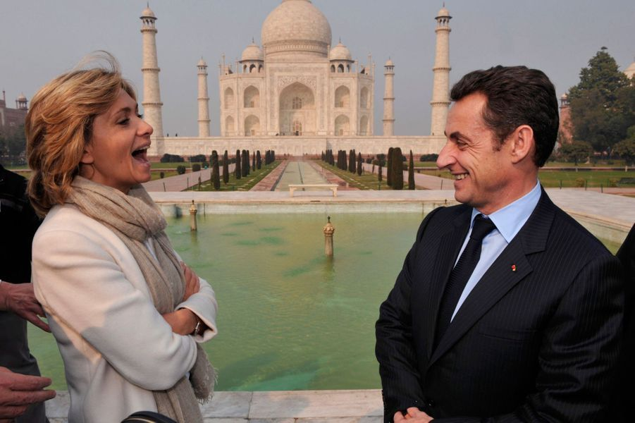 Nicolas Sarkozy et Valérie Pecresseau Taj Mahal en janvier 2008.