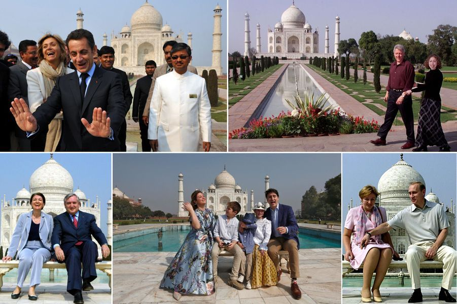 Le Taj Mahal, passage obligé des politiques