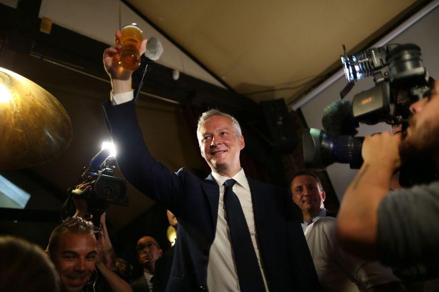 Bruno Le Maire,ministre de l'Économie, a réalisé son meilleur score de premier tour avec 45% des voix dans la 1ère circonscription de l'Eure, sous l'étiquette REM.