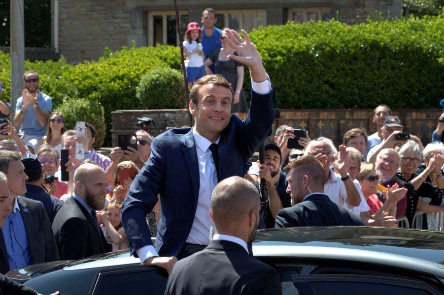 Emmanuel Macron à la mairie du Touquet.