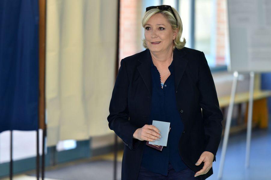 Marine Le Pen a voté à Henin-Beaumont.
