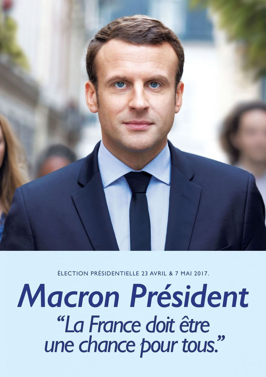L'affiche de campagne d'Emmanuel Macron dévoilée le 4 avril.