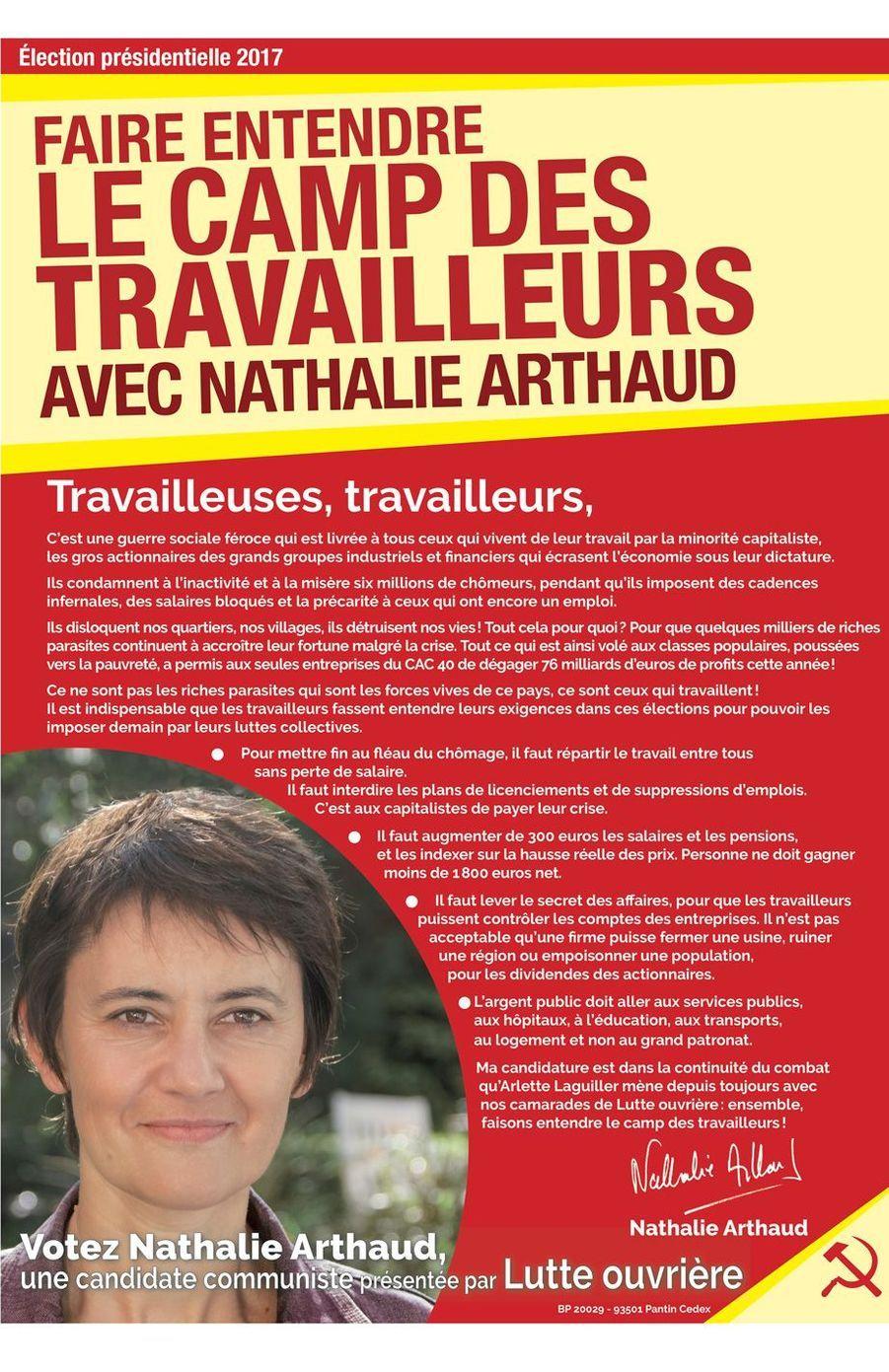 Nathalie Arthaud ( Lutte Ouvrière)