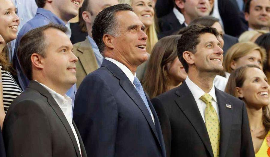 Matt Rhoades (à gauche), stratège ayant déjà travaillé pour George W. Bush et Dick Cheney, est le manager de la campagne de Mitt Romney -il était déjà son directeur de la communication en 2008.