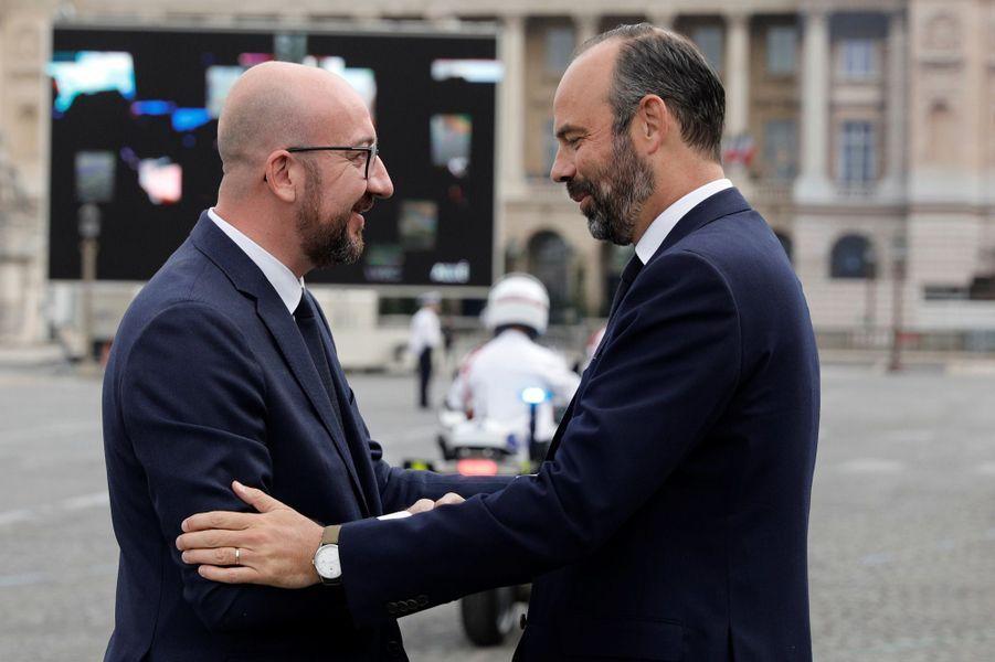 Edouard Philippe et son homologue belgeCharles Michel.