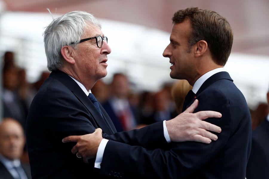 Emmanuel Macron et Jean-Claude Juncker, président de la Commission européenne.