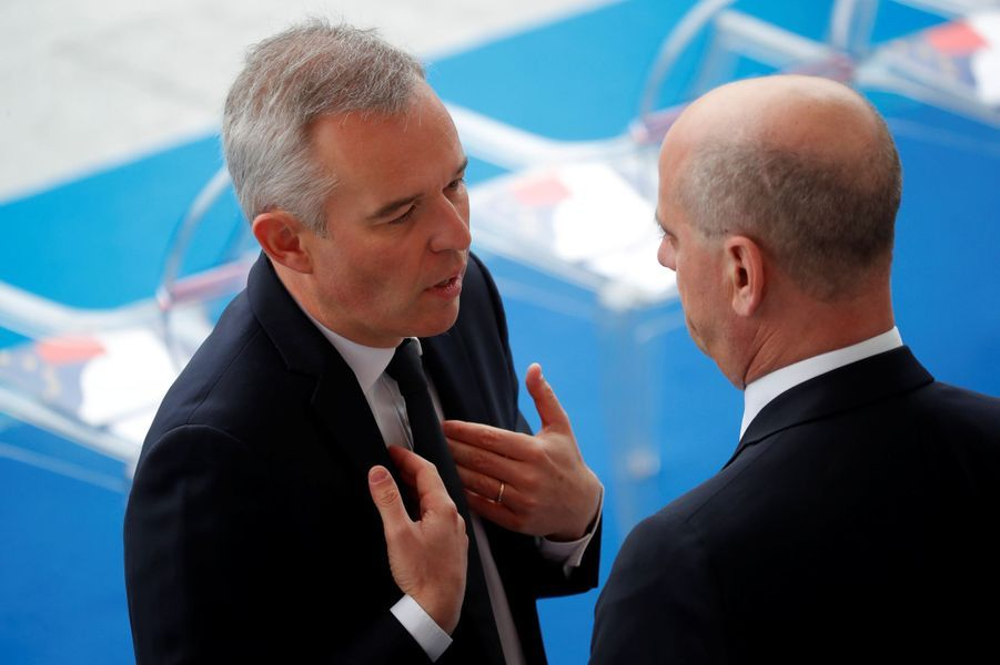 François de Rugy en discussion avec Jean-Michel Blanquer.