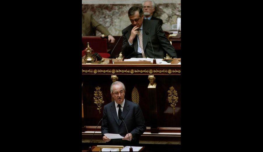 Ici photographié lors du discours de politique générale d'Edouard Balladur en avril 1993, Philippe Séguin restera en poste jusqu'en 1997, à la tête d'une Assemblée très nettement dominée par la droite.